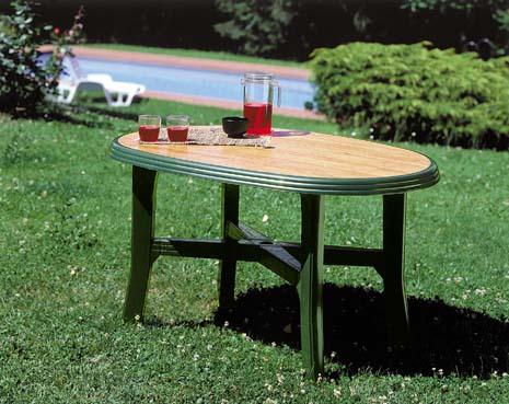 DANUBIO WOOD zöld asztal 165x110cm