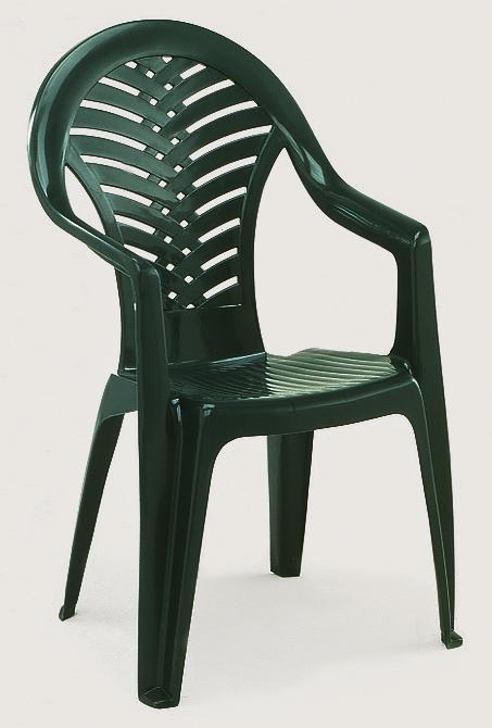 OCEAN magas támlás zöld szék