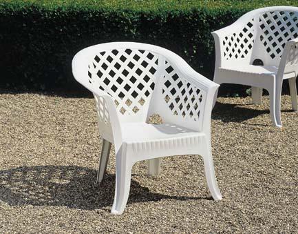LARIO fehér fotel egymásba rakható