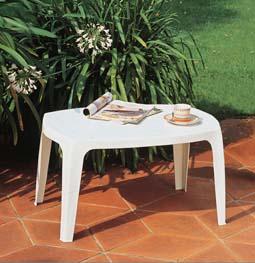 MITO alacsony fehér asztal 76x49cm egymásba rakható