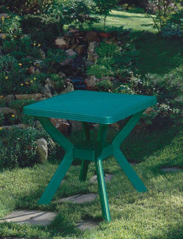 NILO 79x79cm zöld asztal