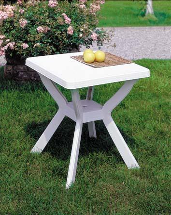 RENO 70x70cm szögletes fehér asztal