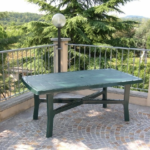 SENNA zöld asztal 180x100cm