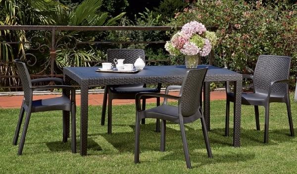 antracit Kerti bútor webáruház: műanyag kerti asztal, szék