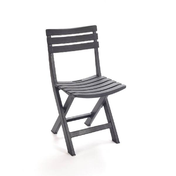 KOMODO faerezetes hatású összecsukható szék antracit színben