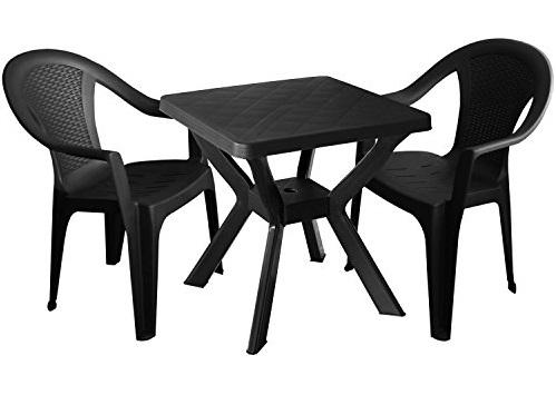 NILO 79x79cm antracit asztal