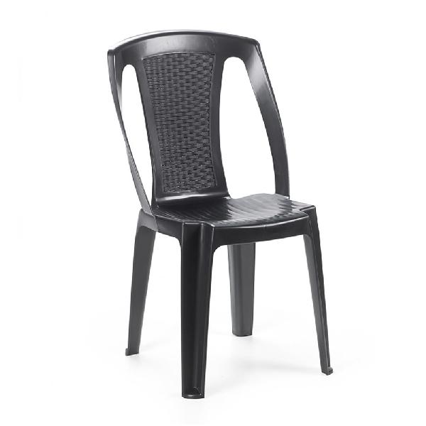 PROCIDA bisztró szék antracit színben rattan hatású háttámlával