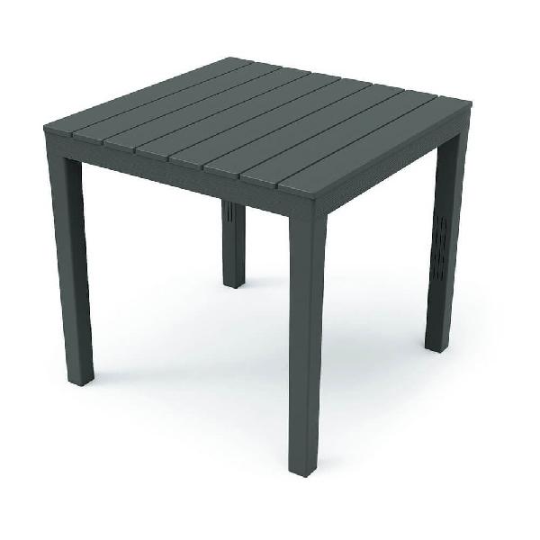 BALI 78x78cm faerezetes mintázatú asztal antracit színben