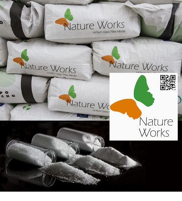 Nature Works szűrőüveg 20kg 0,6-1,2mm Stage-1 AS-033101