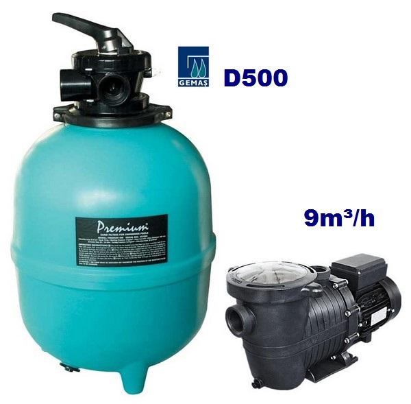 Basic Plus 9m3/h D500 550W homokszűrős vízforgató AS-040017