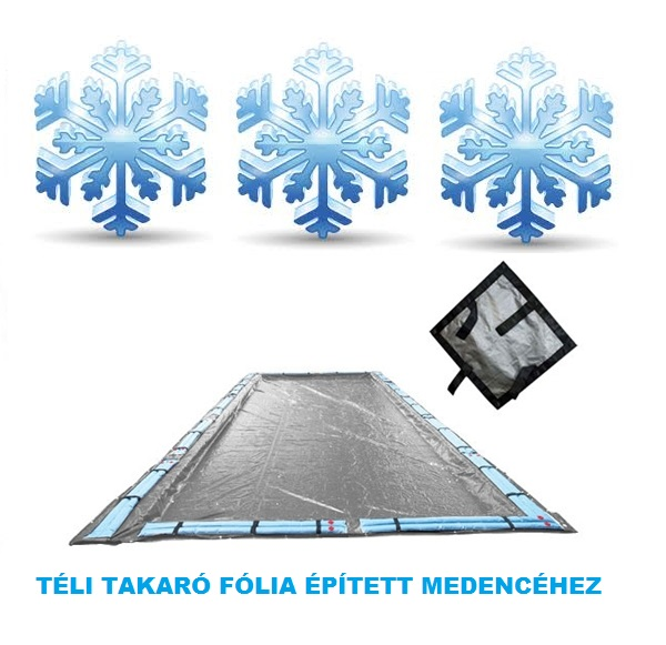 Silverado téli medence takaró fólia 6,3m x 10,8m (9m x 4,5m mérethez) AS-173109