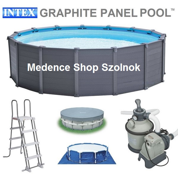 Intex 478x124cm f mv zas grafit famint s medence szett 4 for Intex webshop