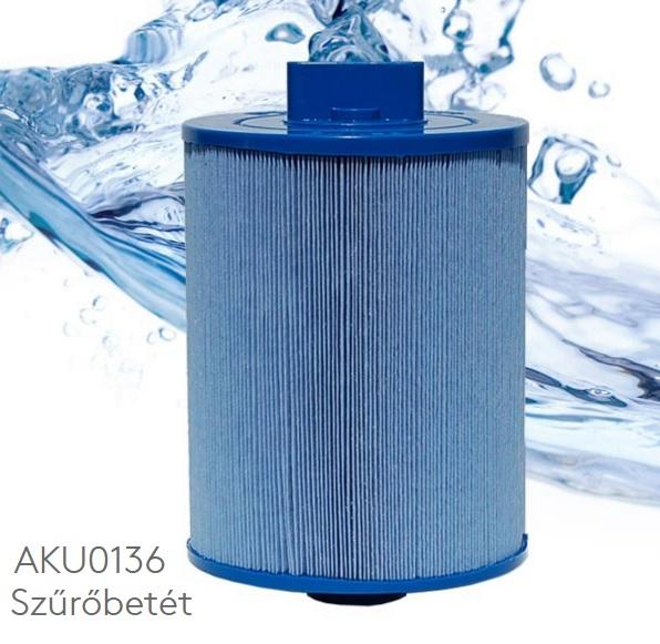 Wellis Pleatco AKU0136 jacuzzi szűrőbetét sűrű menetes véggel