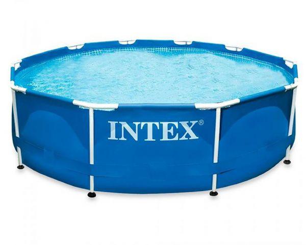 Intex 488x122cm fémvázas medence szett 4,5m3/h homokszűrős vízforgatóval Ultra Frame 26324 NP