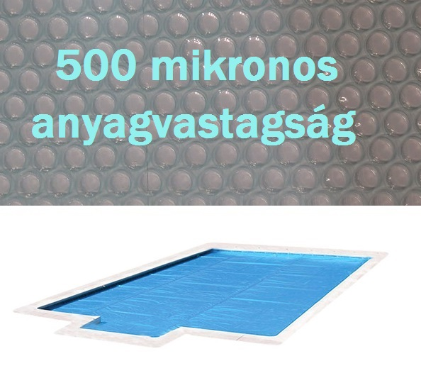 Crystal Blue 500 szolártakaró téglalap 5,5m x 11m medencéhez 500 mikron AS-172050