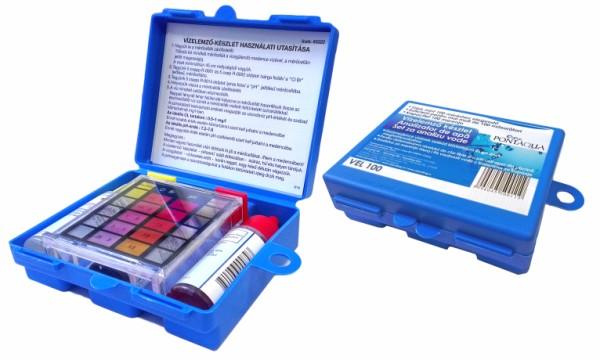 Folyadékos vízelemző készlet pH Cl Br méréshez Taylor VEL 100