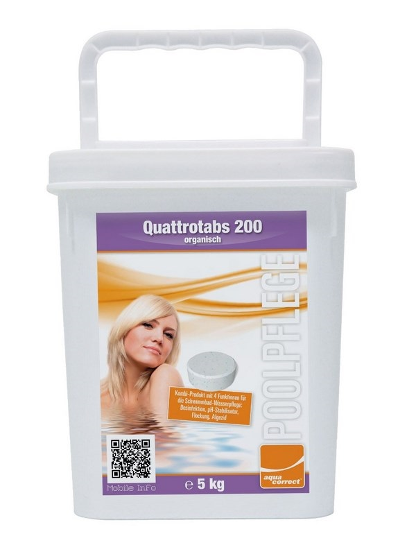 Aquacorrect Quattrotabs 200g 5kg kombinált tabletta AS-150065
