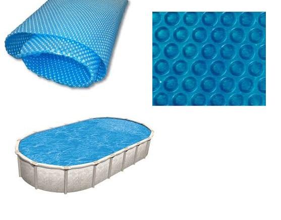 Blue 250 szolártakaró Ovális 4,6m x 8,2m medencéhez 250 mikron AS-172018