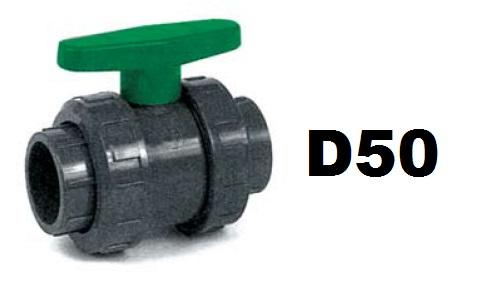 Golyóscsap D50 HDPE, EPDM tömítéssel Coraplax CCG-50H