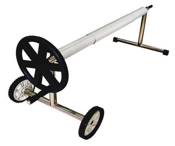 Mobil szolár fólia tekercselő inox lábbal 4m-6,5m-ig 95mm átmérő AS-171007