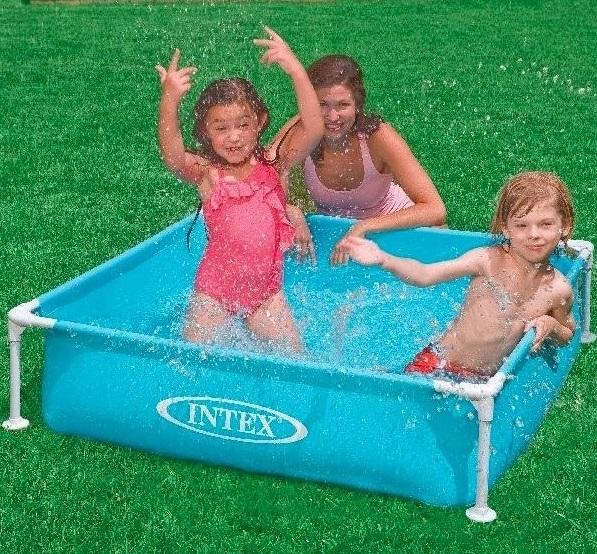 Intex 122 x 122 x 30cm csővázas gyerek medence 57173NP kék