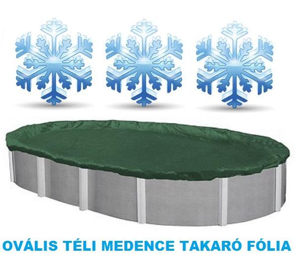 Supreme téli ovális medence takaró fólia 3,6 x 7,2m AS-173005