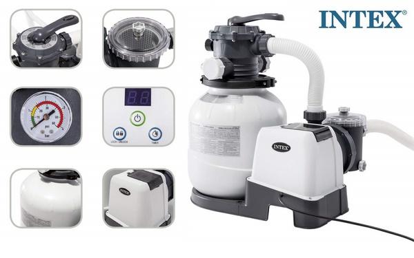 Intex homokszűrős vízforgató 6m3/h 220W D300 26646 - </b>Nem raktári termék