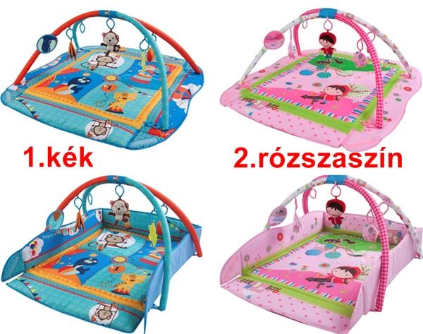 Sun Baby játszószőnyeg állatos,felhajtható NAGYMÉRETŰ zenével-fénnyel.