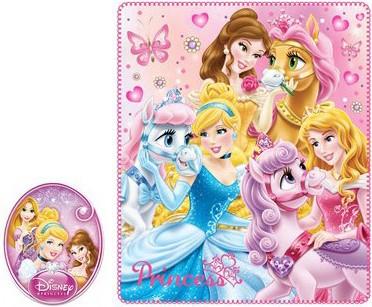 Polár takaró Disney Princess, Hercegnők 120*140cm
