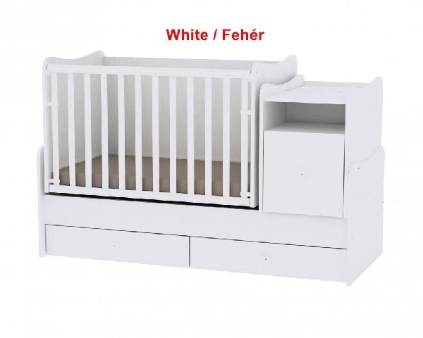 Lorelli Trend PLUS ringatható kombi ágy 70x165 - White / Fehér. Videóval.