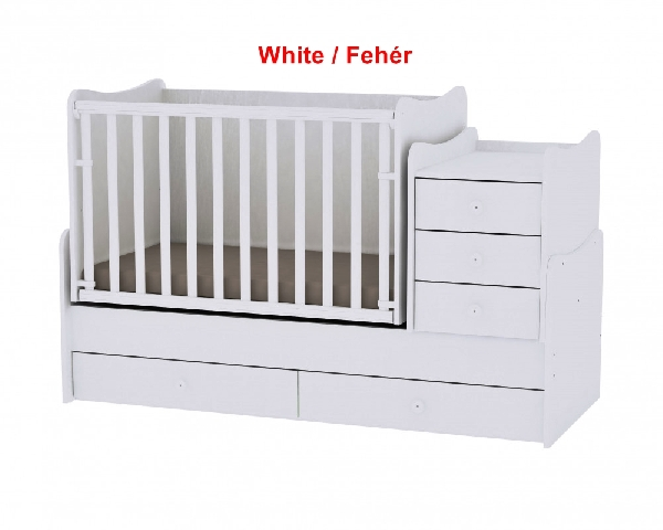 Lorelli Maxi Plus ringatható kombi ágy 70x160 - White / Fehér. Videóval