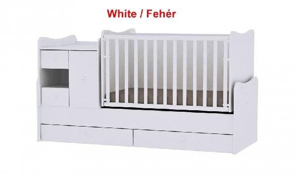 Lorelli MiniMax ringatható kombi ágy 72x190 - White / Fehér. Videóval