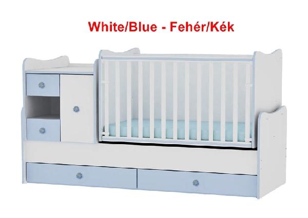 Lorelli MiniMax ringatható kombi ágy 72x190 - White/Blue - Fehér/Kék. Videóval