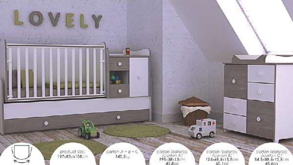Lorelli MiniMax ringatható kombi ágy 72x190