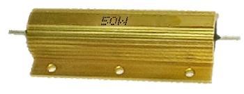 0R1 ellenállás 50W fémházas hűtőfelülettel