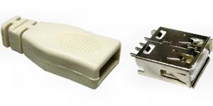 USB A szerelhető aljzat 05-049