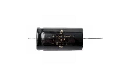 10uF / 100 V bipoláris elkó