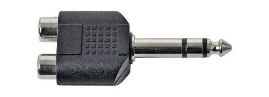 Közösítő 2 x RCA alj -► Jack 6,3,stereo dugó AC011