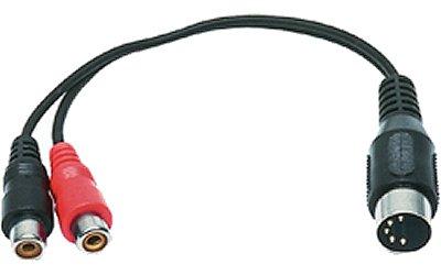ALC átalakító Din 5 dugó - 2 x RCA alj 0,2 m C-301