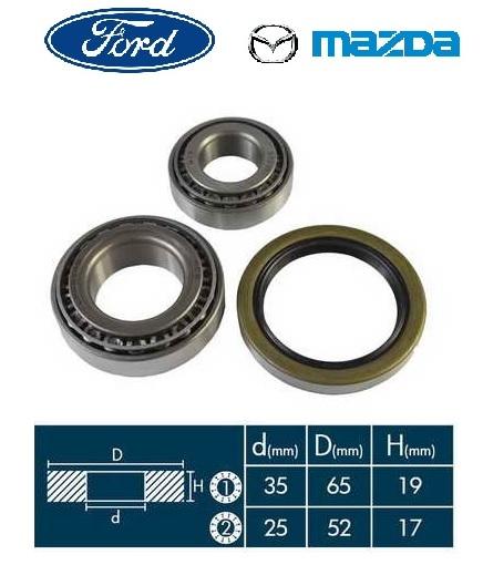Kerékcsapágy készlet első Mazda, Ford (65mm-35mm)
