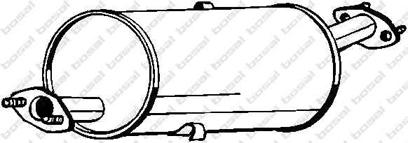 Kipufogódob Bosal E2200