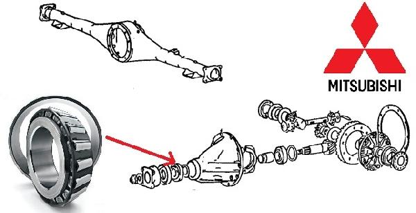 Csapágy, Dificsapágy HÁTSÓ differenciálmű csapágy Mitsubishi L200 2006- (Gyári)