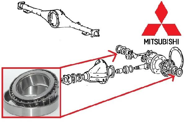 Csapágy, Dificsapágy HÁTSÓ differenciálmű szélső csapágy Mitsubishi L200 2006- (Gyári)