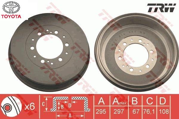 Fékdob Toyota Hilux 06-15 (1db)