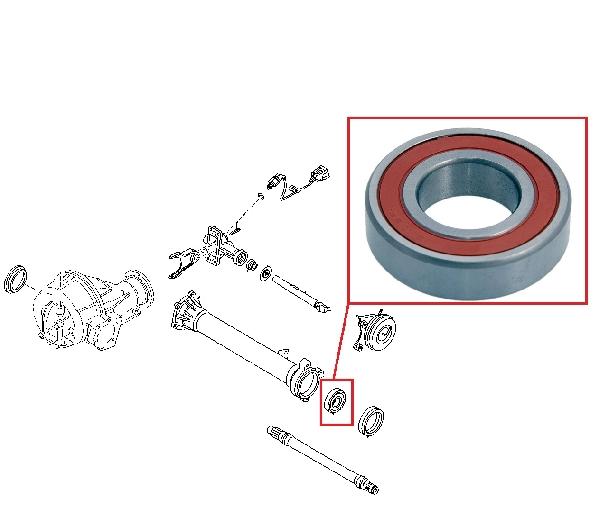 Difi csapágy, első differenciál bal szélső kihajtás csapágy Ford, Mazda