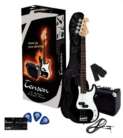 TENSON/VGS  P Player Pack Black Elektromos basszusgitár szett