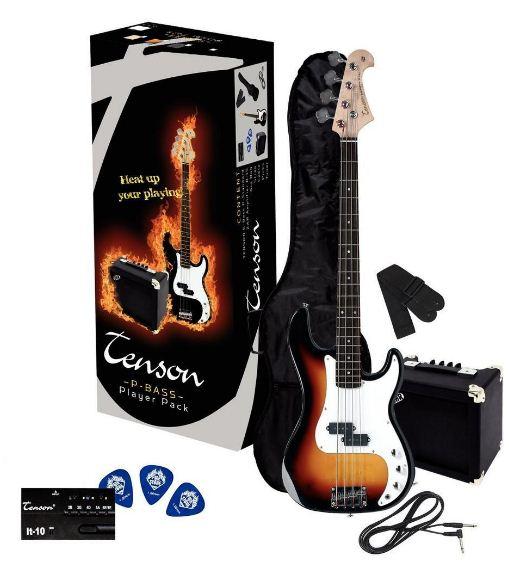 TENSON/VGS  P Player Pack 3-Tone Sunburst Elektromos basszusgitár szett