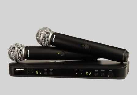 Shure BLX288E/SM58 dupla vokál szett