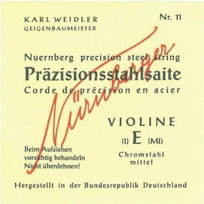 Nürnberger hegedűhúr Präzision tömör magos 631.950