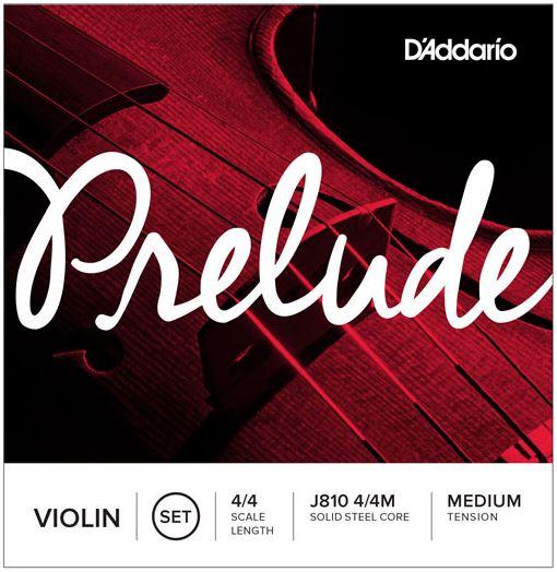Prelude Violin String Set, 4/4 Scale, Medium Tension J810